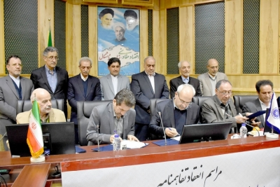 In the presence of the president of Iran's Chamber of Commerce, a five-side agreement on the construction of rural schools in earthquake-stricken areas of the west of the country was signed.
